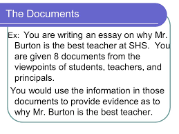the dbq what you need to know about writing a document based essay  6 the documents