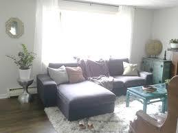ikea kivik loveseat chaise combination living room