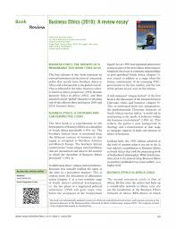 business ethics a review essay by deon rossouw and leon  business ethics 2010 essay business business argumentative essay topics pics essay