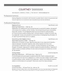 Nursing Resume Template 2018 Inspiration Resume Nursing Nurses Resume Best Registered Nurse Resume Example