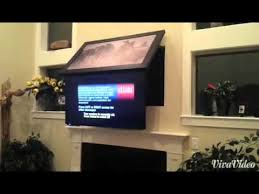 A  Stylish Decoration Fireplace Tv Mount Pull Down Hidden Drop TV  Mounted About YouTube