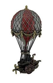 Resin Statues <b>Hand Painted Steampunk</b> Hot Air Balloon Fantasy ...