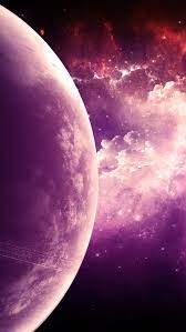 Space, galaxy, moon, planet, purple, HD ...