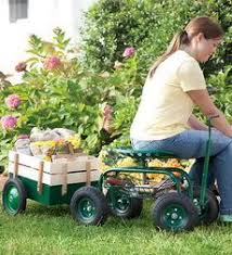 garden scooter seat. Steering Knob Allows You To Turn Easily; Easy Rolling Pneumatic Tires For A Soft Ride; Adjustable-height Swiveling Tractor Seat Ease Of Movement; Garden Scooter V