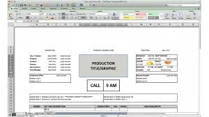 call sheet template excel call sheet template cast and crew call youtube