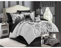 Bedroom: King Size Black And White Comforter | Black And White ... & Black and White Queen Size Bedding Sets | Black and White Paris Comforter  Set | Black Adamdwight.com
