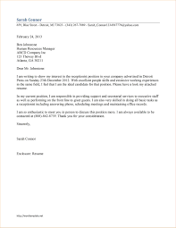 Free Cover Letter Examples 71 Images Free Cover Letter