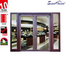 exemplary double glass doors double glass restaurant entrance doors aluminum clad wood window