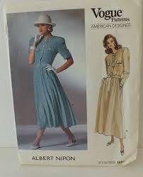 Albert Nipon Size Chart Vogue 1889 Albert Nipon American Designer Sz10 Patterns