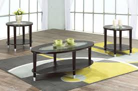 3pc glass coffee table set in expresso color zoom