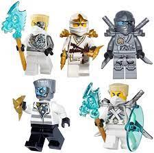 LEGO Ninjago Zane Mini Figures Set Of 5 Assorted (Zane Nindroid Weapons  Reboo/Zane Zane Titanium/Prison/Zane Zane ZX/Titanium): Amazon.de: Toys &  Games