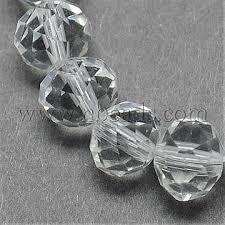 <b>6mm</b> Clear <b>Abacus Glass</b> Beads(X-G02YI011) - <b>Handmade</b> Imitate ...