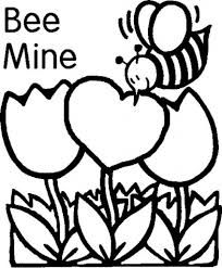 Bee Mine Valentines Day coloring pages free printables valentines day coloring pages, valentine and more! on cute valentines template