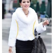 new trendy women faux fur coats black white short casual slim coat winter outerwear nordic nights plus size
