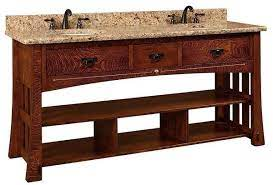 72 Marquette Mission Double Bathroom American Vanity Cabinet With