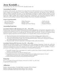 Sample Of Objective In Resume In General Accounting Resume Objective