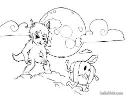 Small Picture Frigthful werewolf coloring pages Hellokidscom