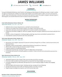 Elementary School Resume Elementary Teacher Resume Sample ResumeLift 2