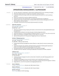 Sample Resume For Warehouse Operations Manager New Shipping Manager