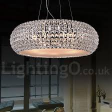modern led k9 crystal ceiling pendant