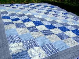 10 best Diagonal quilt pattern images on Pinterest | Kid quilts ... & blue and white quilt Adamdwight.com