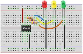 traffic light wiring diagram traffic image wiring how to build a traffic light circuit an attiny85 on traffic light wiring diagram