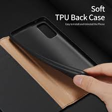 100% Genuine Leather <b>Flip</b> Case For Samsung Galaxy S20 Case ...