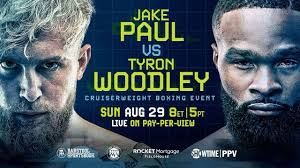 Produced and distributed by showtime ppv, the event begins at 8:00pm et/5:00pm pt. Mma Fans Brace For Paul Vs Woodley Weigh In On Khabib Ring Girls