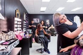 makeup artists work on models at babydoll beauty couture a new salon catering to plus
