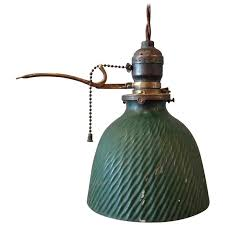 petite green x ray mercury glass pendant light with extension arm pull chain