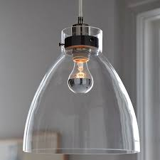 glass pendant lamp shade industrial west elm 4