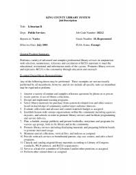 king county library system job description title librarian ii job description for library assistant