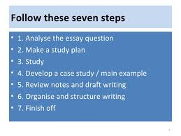 a guide to essay writing  2 follow these seven steps