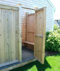 outdoor shower kit canada cedar kits with bench decking flooring plans post caps sho outdoor shower kit