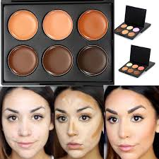 professional 6 colors bronzer dark skin color foundation makeup bronzer highlighter waterproof concealer palette contour kit