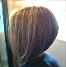 simple graduated and stacked bob hairstyle