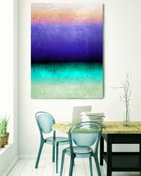 inspired by rothko 72 watercolor abstract blue purple green canvas art print watercolor painting print up to 72 by irena orlov