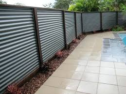 metal fence ideas. Modren Ideas Corrugated Metal Fence Hardwood Posts And Iron  Plans  Inside Metal Fence Ideas