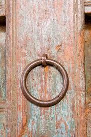old ornamental door circular door handle stock photo image of decor pattern
