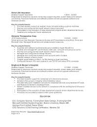 Desktop Support Specialist Resume It System Support Specialist Stunning Desktop Support Resume