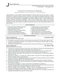 Construction Operation Manager Resume 7 8 Operation Manager Resume Samples Archiefsuriname Com