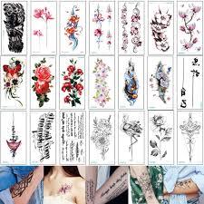 21 10 см кк временные татуировки наклейки поддельные маленький пион цветок лотоса