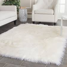 soft fur white area rug