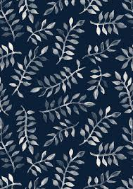 White Leaves on Navy - a hand painted pattern Art Print price - $16.00 By  Micklyn