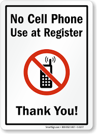 No Cell Phone Signs For Office No Cell Phones In Office Signs