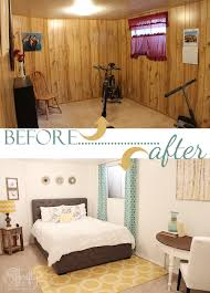 bedroom makeover wood paneling to
