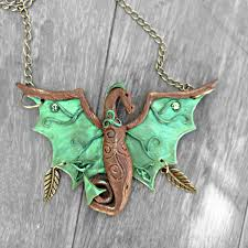 celtic necklace fantasy necklace dragon necklace dragon jewelry fantasy dress celtic dragon gift for her fantasy gift celtic knot
