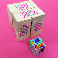 make this wooden diy infinity cube an addictive fidget toy for kids and grown