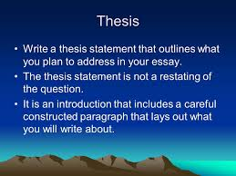 writing the thesis statement and dbq essay ppt video online  thesis write a thesis statement that outlines what you plan to address in your essay