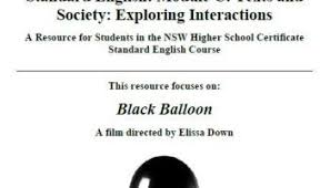 releasing standard module c texts and society exploring  the black balloon standard module c exploring interactions